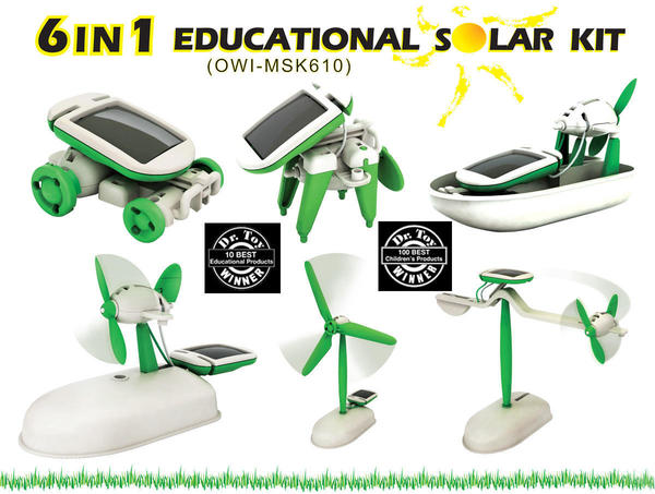 Cover image for 6 in 1 educational solar kit.