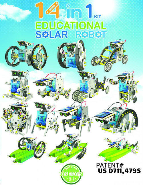 Cover image for 14 in 1 educational solar robot.