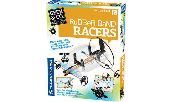 Cover image for Rubber band racers.